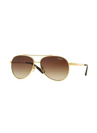 Vogue Vo 3991-Sı 280/13  58-14-135 Unisex Güneş Gözlüğü Altın